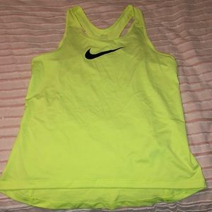 Yellow Nike pro tank top